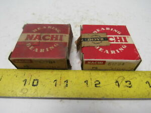 Nachi 51204 Single Direction Thrust Ball Bearing 20x40x14mm Lot Of 2