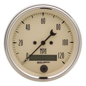 Auto Meter Speedometer Gauge 1880 Antique Beige 0 To 120 Mph 3 3 8 Electrical