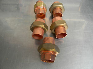 1 Union Copper Plumbing Fitting Bag Of 5 Pcs