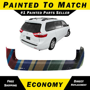 New Painted To Match Rear Bumper Cover For 2011 2018 Toyota Sienna 5215908902