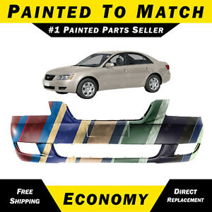 New Painted To Match Front Bumper Cover For 2006 2008 Hyundai Sonata