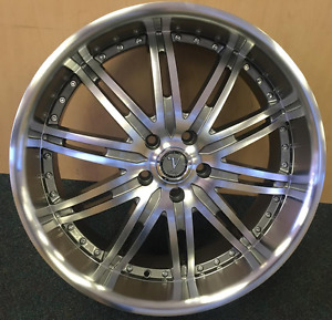 18 Inch Velocity V 865 Gun Metal Machine Wheels Rims Tires Fit 5 X 114 3
