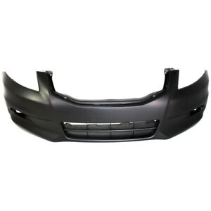 Front Bumper Cover For 2011 2012 Honda Accord Sedan W Fog Lamp Holes Primed