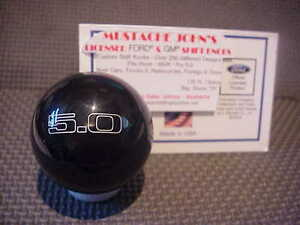 Ford Mustang 5 0 Engraved Licenced Shift Knob Black