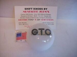 Pontiac Gto Gm Licensed White Custom Shift Knob