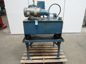 W m h Fluidpower 5hp 10 G p m Hydraulic Power Unit 1000psi Max 30 Gal Tank