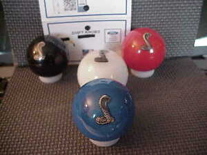 Cobra Mustang Ford Licenced Shift Knob With Pin Poured Inside Blue