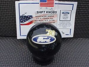 1930 Ford Licenced Custom Shift Knob Car Truck Hot Rod Black Pearl