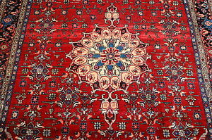 C1930s Antique Fine Classic Village Woven Prsian Bijar Rug 4 8x8 True Beauty