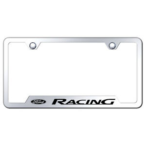Ford Racing On Stainless Steel Cut Out License Plate Frame Officially Licensed