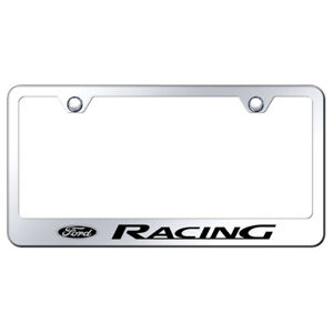 Ford Racing On Stainless Steel License Plate Frame Officially Licensed