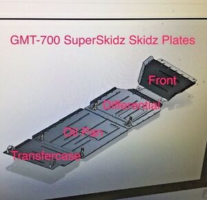 4 Superskidz Full Set Skid Plates 2015 To 2019 Chevy Colorado Gmc Canyon Gmt700