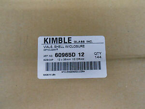 Kimble Vials 60965d 12 Shell With Closure 12x35mm 1 2 Dram