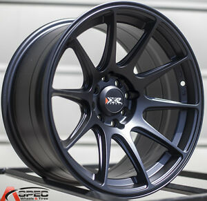Xxr 527 16x8 25 Rims 4x100 114 3 0 Black Wheels set Of 4