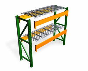 New Teardrop Pallet Rack Starter Kit With Wire Deck 42 d X 120 w X 96 h