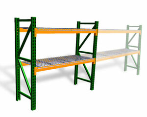 New Teardrop Pallet Rack Starter Kit With Wire Deck 36 d X 120 w X 96 h