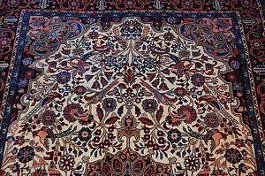 C1930s Antique Fine Master Piece Prsian Bijar Rug 4 5x7 High Kpsikork Wool