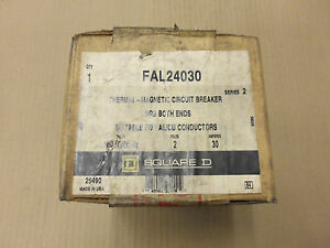 New Square D Fal Fal24030 2 Pole 30 Amp 480v Circuit Breaker New In Box