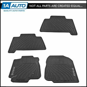 Oem 4 Piece All Weather Floor Mat Front Rear Set Molded Rubber For Toyota Rav4