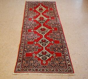Circa 1930s Antique Persian Bijar Runner Rug 2 5x7 1 Highly Detailed Beauty