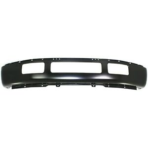 Front Bumper For 2005 2007 Ford F 450 550 Super Duty Painted Black Steel