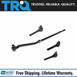 4 Piece Kit Inner Outer Tie Rod End Drag Link Set For Jeep Xj Mj Truck Suv New