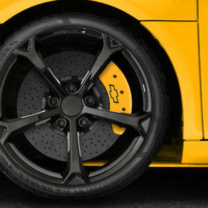 Front Yellow Bowtie Caliper Covers For 2011 2013 Chevy Cruze By Mgp