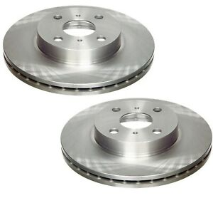 For Toyota Chevy Pair Set Of 2 Front Brake Disc Rotors Vented Coat 255mm Brembo