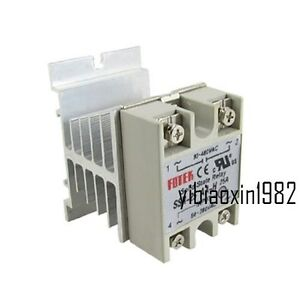 New Solid State Relay Ssr 25aa Ac ac 25a 80 280vac 90 480vac Heat Sink