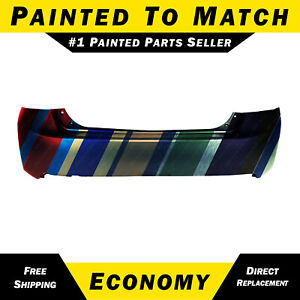 New Painted To Match Rear Bumper Cover For 2013 2014 2015 Honda Accord