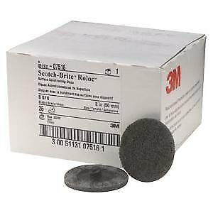 3m Scotch brite 07516 2 Inch Roloc Surface Conditioning Discs Box Of 25