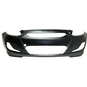 Front Bumper Cover Primed For 2014 2017 Hyundai Accent From 10 15 2013