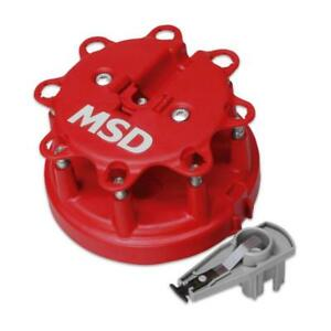 Msd Distributor Cap Rotor Kit 8482 Hei Male Red For Ford Lincoln Mercury