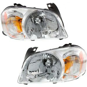 Headlight Set For 2005 2006 Mazda Tribute Left And Right With Bulb 2pc