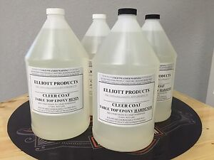 4 Gals Crystal Clear Table Top Epoxy High Gloss