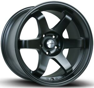 Avid1 Av06 17x8 Rims 5x100mm 35 Black Wheels Fits Jetta Matrix Corolla Frs