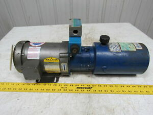 Dyna Pack M405 Monarch Hydraulic Pump Unit W baldor 1hp 3ph Motor