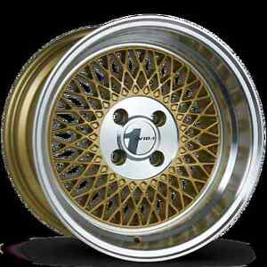 Avid1 Av18 15x8 Rim 4x100 25 Gold Wheels Fits Accord Jetta 325 318 Fit Xb