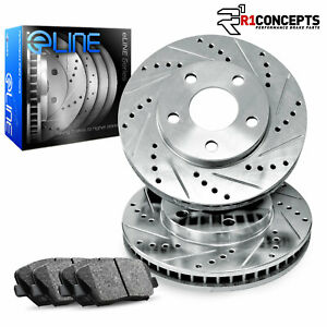 For 2001 2002 Gmc Sierra 2500 Hd Front Eline Drill Slot Brake Rotors Sd Pads