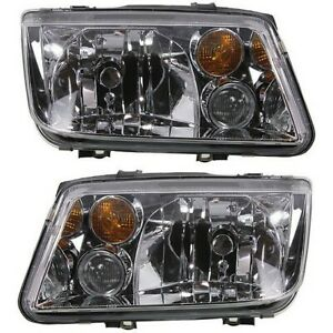 Headlight Set For 2002 2005 Volkswagen Jetta Left And Right With Fog Light 2pc