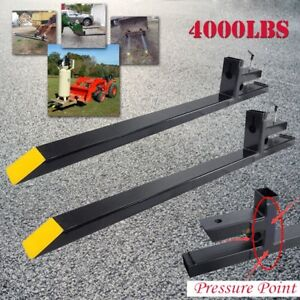 Clamp On 4000lbs Capacity Pallet Forks Loader Bucket Skidsteer Tractor Chain 60