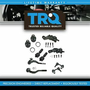 10 Piece Kit Ball Joint Tie Rod Sway Bar Link For 01 04 Toyota Tacoma Pickup 4wd