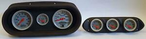 62 64 Nova Black Dash Carrier W Auto Meter Ultra Lite Electric Gauges