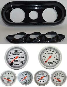 62 64 Nova Carbon Dash Carrier W Auto Meter Ultra Lite Mechanical Gauges