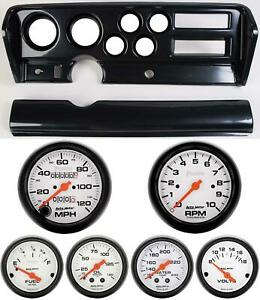 70 72 Gto Carbon Dash Carrier W Auto Meter Phantom Mechanical Gauges