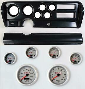 70 72 Gto Carbon Dash Carrier Concourse Silver Face Gauges