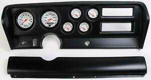 70 72 Gto Black Dash Carrier W Auto Meter Phantom Electric Gauges