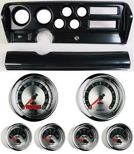 70 72 Gto Carbon Dash Carrier W Auto Meter American Muscle Gauges
