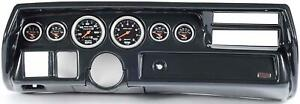 70 72 Chevelle Sweep Carbon Dash Carrier Auto Meter Sport Comp Mechanical Gauges
