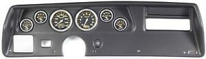 70 72 Chevelle Ss Black Dash Carrier W Auto Meter Carbon Fiber Gauges